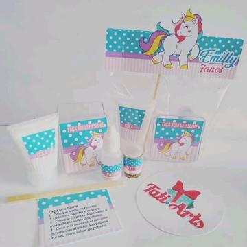 Kit Slime Unicornio - Embalagens Personalizadas