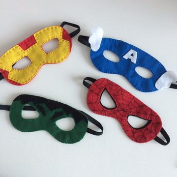 Máscaras Super Heróis em feltro