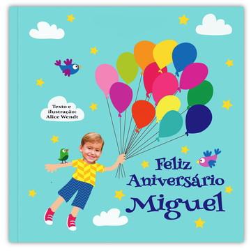 Livro FELIZ ANIVERSÁRIO ( menino )