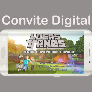 Convite digital minicraft