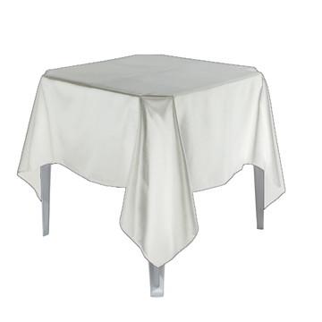 12 Toalha Mesa Quadrada Cetim Branco 1,50x1,50 Festa Buffet