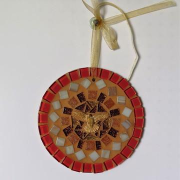 Mandala Divino em mosaico mini coral