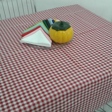 Toalha de Festa Junina Xadrez Vermelha 1,40x1,40
