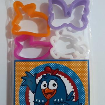 Kit Massinha personalizadas + 4 moldes Galinha Pintadinha