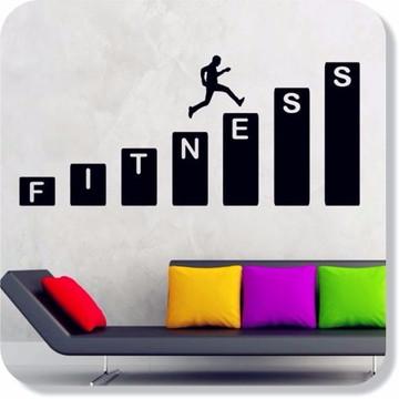 Adesivo Parede Ginástica Academia Fitnes Saúde Vida Saudável