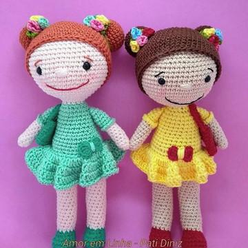 Boneca Gigi crochê Amigurumi