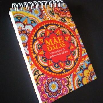 Caderno de Colorir Mandalas para Dia das Mães