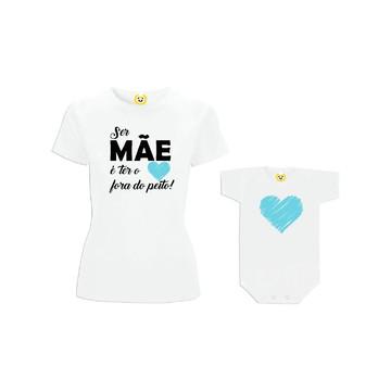 Kit Camiseta Coração Fora do Peito FILHO