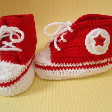 1db79cb179f Tenis All Star Baby Vermelho