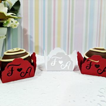 Forminha Personalizada Casamento Letra Coração