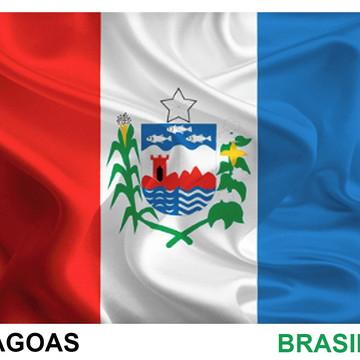 Bandeiras Adesivas de Alagoas e Maceió 7,5 X 10 cm
