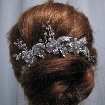 Arranjo cabelo de noiva grampo de luxo ramo de flor