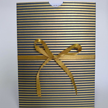 Convite Azul com dourado