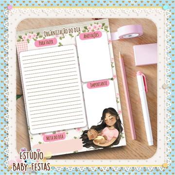 Desk Planner Diário Dia das Mães (30 folhas)