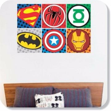 c94bae8188 Adesivo Cabeceira Cama Parede Super Herois Decorativo