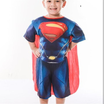 Fantasia Personagem Superman Com Capa Infantil