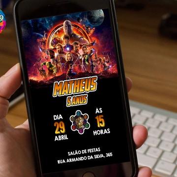 Arte/Convite digital - Vingadores