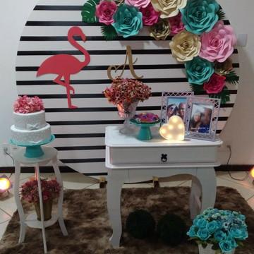 Kit com 12 Flores de papel 30 cm 25 cm 20 cm 15 cm decoraç