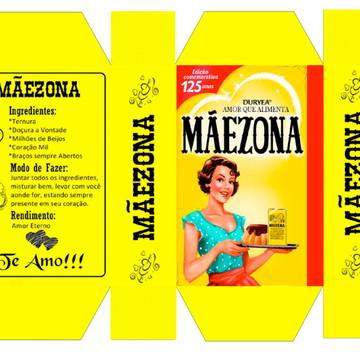 Caixa Maezona Dia das Maes - Arquivo de Corte Silhouette
