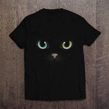 Camiseta Black Cat Gato Preto