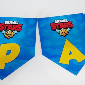 Faixa Braw Star parabens + nome personalizada