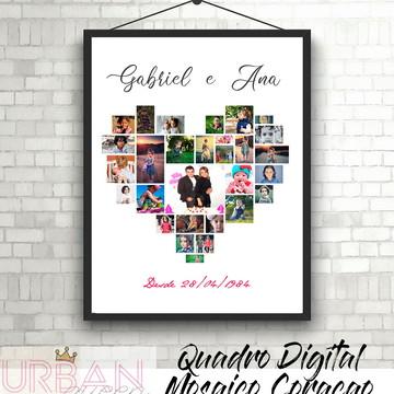 Quadro digital Mosaico de fotos Dia dos Namorados