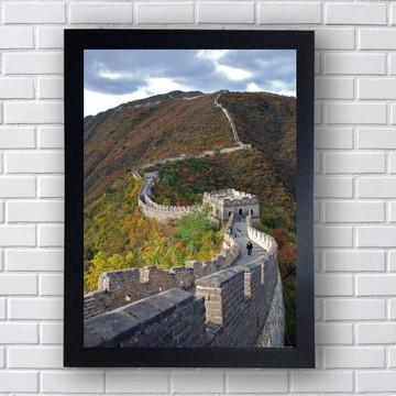 Quadro Decorativo Muralha Da China