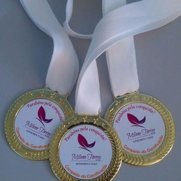 Kit 20 medalhas personalizadas