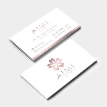 (ARTE) Cartão de Visita - Rosé Gold