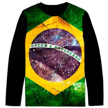 6395059ce Bandeira do Brasil Camiseta Customizado