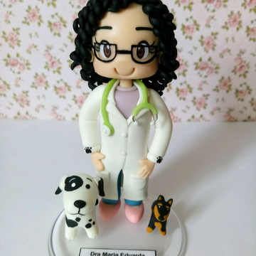 Boneco profissões - Veterinária
