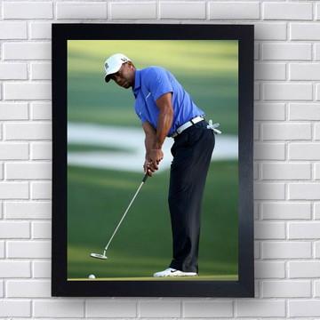 Quadro Basebol Tiger Woods