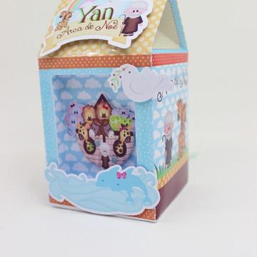 Caixa Piramide Personalizada no Tema Arca de Noe