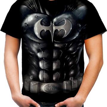 Camiseta Camisa Personalizada Fantasia Traje Heroi Batman