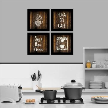 Quadro decorativo cozinha hora do café
