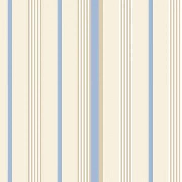 Papel de Parede Quarto de Menino Bege, Azul e Branco