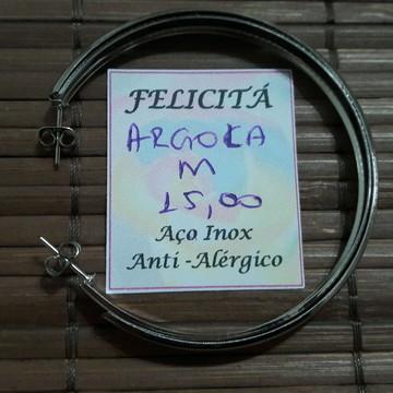 BRINCO DE ARGOLA EM AÇO INOXIDÁVEL - ANTIALÉRGICO