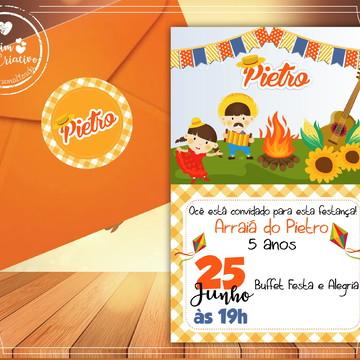Convite Arraiá Festa Junina