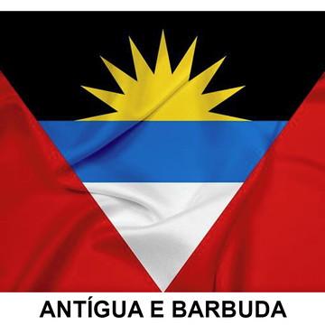Bandeira Adesiva da Antígua e Barbuda 7,5 X 10 cm