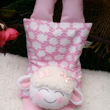 Bolsa térmica de sementes e ervas ovelhinha nuvem rosa