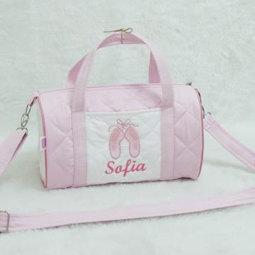 Bolsa Ballet Rosa e Branco