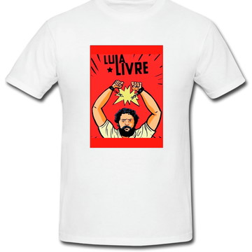 Camiseta Lula Livre 100% algodão. Estampa toque zero ref08