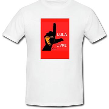 Camiseta Lula Livre 100% algodão. Estampa toque zero ref09