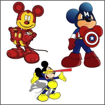 Vetores Mickey Marvel CDR, EPS, Ai e PNG (10 Vetores)