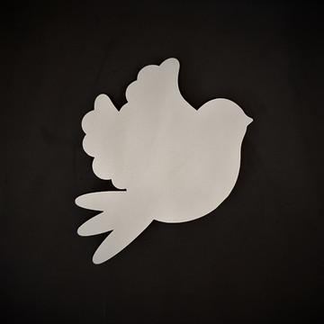 Painel de Pássaro em mdf branco