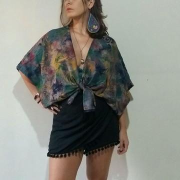 Comprar Kimono Feminino Moda Estampado