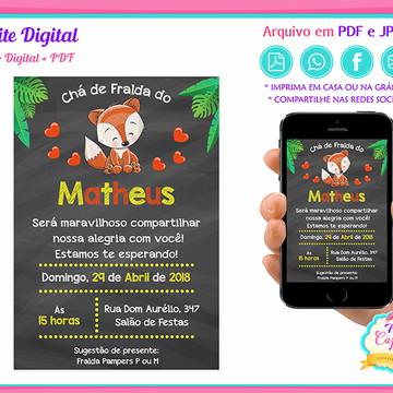 Convite Digital Raposinha
