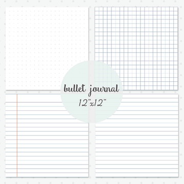 Bulle journal Bujo | Papel Digital caderno planner