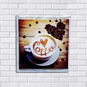 Quadro decorativo de Azulejo Café Gourmet