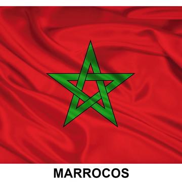 Bandeira Adesiva de Marrocos 7,5 X 10 cm